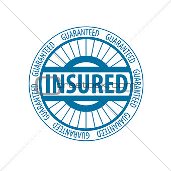 Abstract round vector logo for insurance