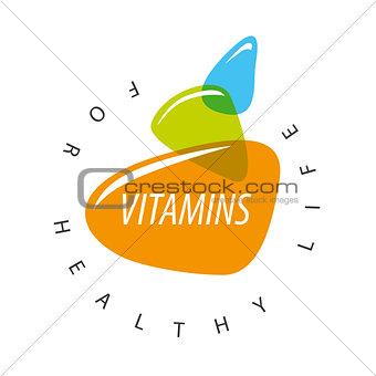 Abstract vector logo colored vitamins