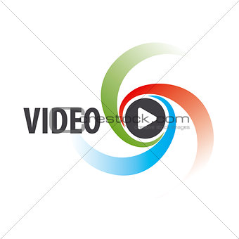 Abstract vector logo to view the video