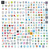 large set of vector logos technology
