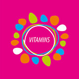 vector logo abstract colored vitamins