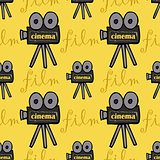 seamless pattern with cameras