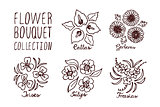 Handsketched bouquets collection