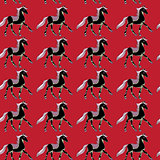 one horse pattern