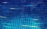 Abstract matrix blue background