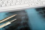 X-ray examination and keyboard