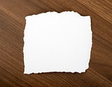 White blank piece of paper