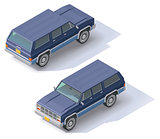 Vector isometric SUV