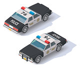 Vector isometric police car