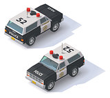 Vector isometric police SUV