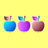 Abstract apple illustrations
