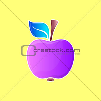 Abstract violet apple