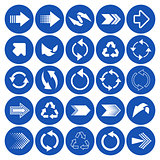 Arrow sign icons