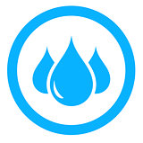 aqua icon with drop