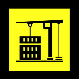 construction crane yellow icon