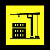 construction crane yellow icon