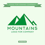 Logo abstract mountain, vector illustration