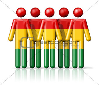 Flag of Bolivia on stick figure