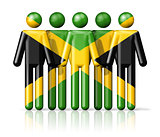 Flag of Jamaica on stick figure