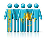 Flag of Kazakhstan on stick figure