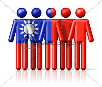 Flag of Taiwan on stick figure