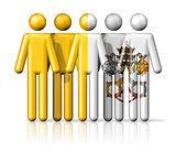 Flag of Vatican City on stick figure
