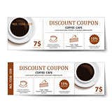coffee coupon discount  template design.
