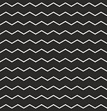 Zig zag vector chevron black and white tile pattern
