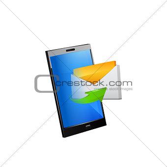 Smartphone editable vector file