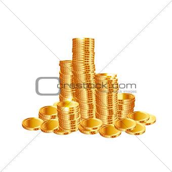 Money coins. Vector