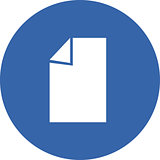 Vector illustration of document icon paper sheet.