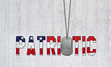 patriotic military dog tags