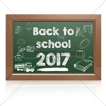Back to school 2017 green blackboard