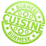 Burmese cuisine stamp