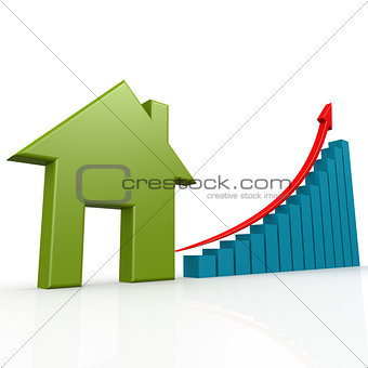 Green house with growth chart
