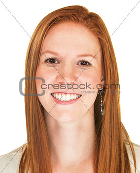 Close Up of Happy Woman