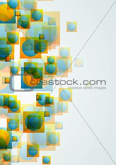 Abstract bright geometric concept background