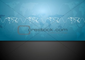 Abstract blue tech corporate design