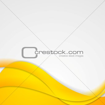 Bright yellow waves corporate design