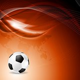 Soccer bright background with abstract waves