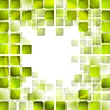 Green tech squares on white background