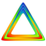 Bright triangle logo. Rainbow colors