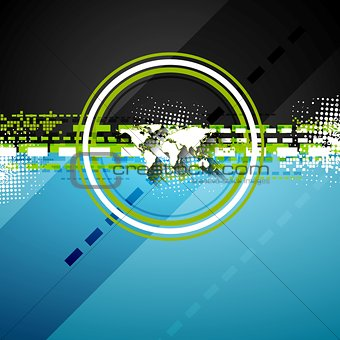Bright technology flat style background