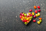heart made from jelly beans