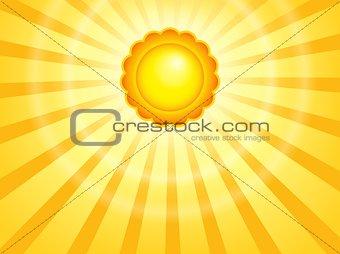 Abstract sun theme image 7