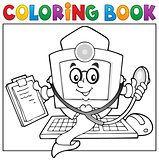 Coloring book computer doctor theme 1