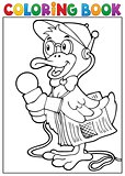 Coloring book duck reporter theme 1