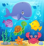 Underwater ocean fauna theme 7