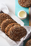 Fresh Chocolate Crispy Cookies with Sesame