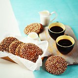 Chocolate Crispy Cookies with Morning Coffee